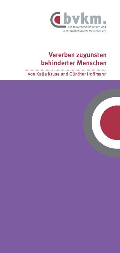 Cover der Broschüre 'Vererben 2018'