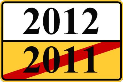Symbol für Jahreswechsel 2011/2012